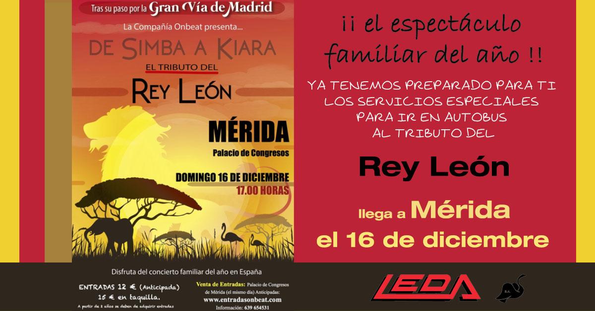 El espectáculo de El Rey León en Mérida