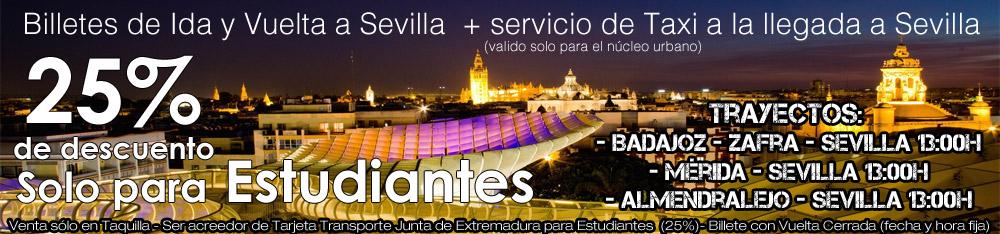 Oferta LEDA + TAXI Estudiantes Sevilla